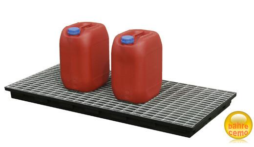 Beispiel Stahlgitterrost verzinkt für PE-Auffangwanne 40 Liter