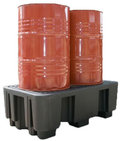 Beispiel PE-Auffangwanne 240-2 mit zwei Fässern
