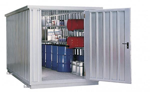 Beispiel Sicherheits-Raumcontainer SRC 3.1W – Tür an Schmalseite
