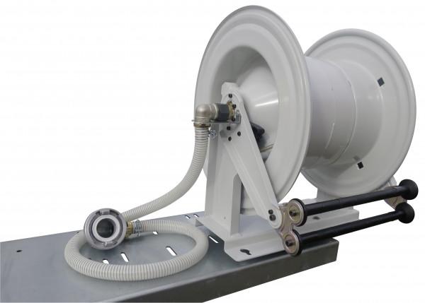 Automatil-Schlauchhaspel mit Federrückzug schwenkbar