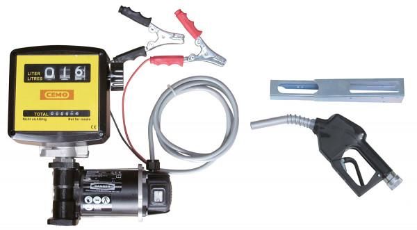 Beispiel Elektropumpe Cematic 3000 / 12 Volt mit Zähler K33 und Zapfpistolenhalter