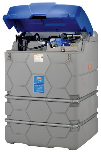 Outdoor-Premium AdBlue®-CUBE-Tank 1500 Liter mit Klappdeckel und Schlauchaufroller