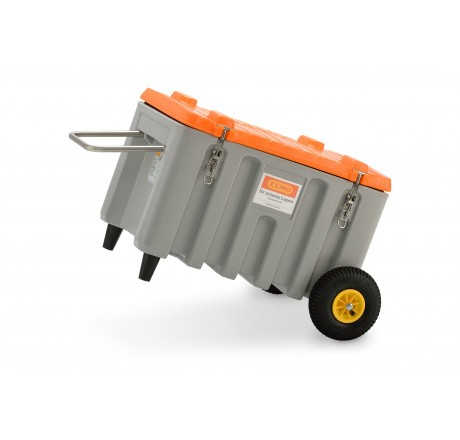 CEMbox-Trolley Offroad mit 150 Liter in grau orange von Cemo