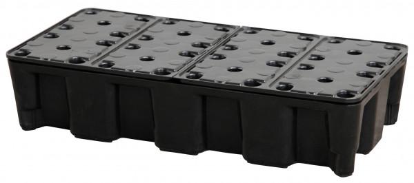 PE-Auffangwannen 35HD mit PE-Rost als Element für Flächenschutzsysteme