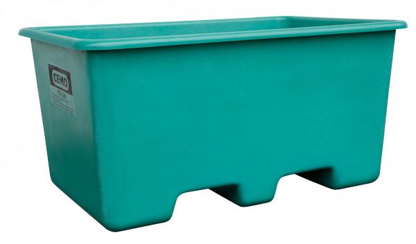 GFK-Rechteckbehälter 400 Liter in grün unterfahrbar