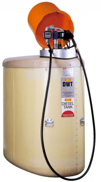 Beispiel DWT-Komplettstation mit Pumpe 50 l/min und Zähler sowie Pumpenhaube