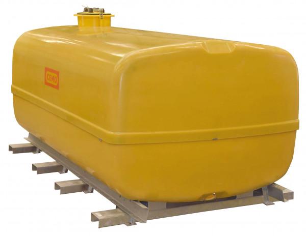 GFK-Fass kofferförmig – Transportfass 10.000 Liter mit Schwallwänden