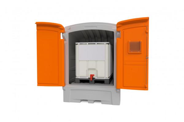PE-Gefahrstoffdepot 1100/1 für ein IBC (IBC-Tank nicht im Lieferumfang)