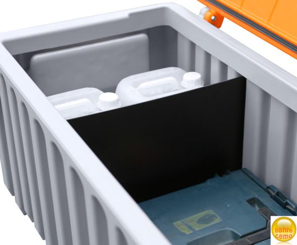 Beispiel Trennwand für CEMbox 750 Liter