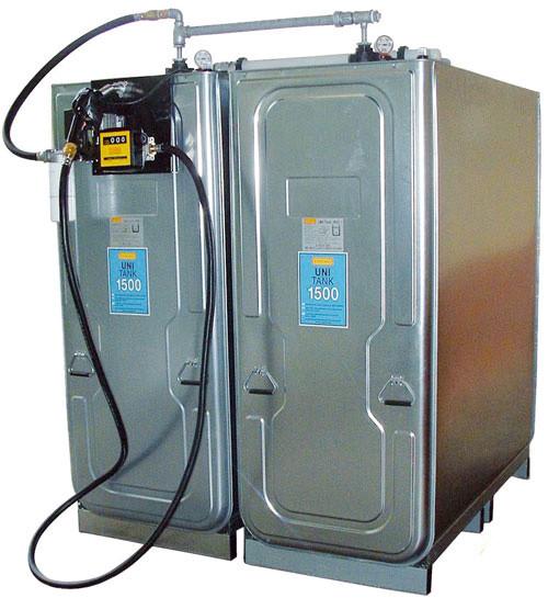 Beispiel Dieseltankanlage mit UNI-Tank 1500 Liter 2er-Batterie