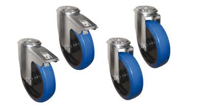 Rädersatz für Alutec Riffelblechboxen inklusive Befestigungsmaterial