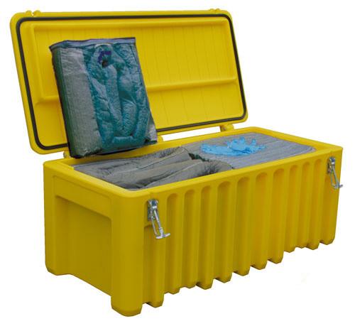 Cemsorb-Notfallbox mit Aufnahmematerial für 197 Liter Flüssigkeit