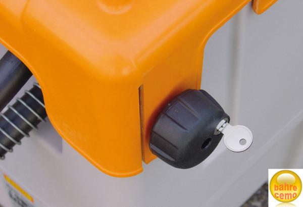 Klappdeckel-Schloss für 125- und 200-Liter-Behälter