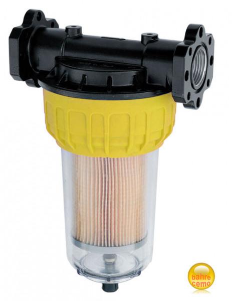 Klarsicht-Filter für Dieselpumpen mit Wasserabscheider