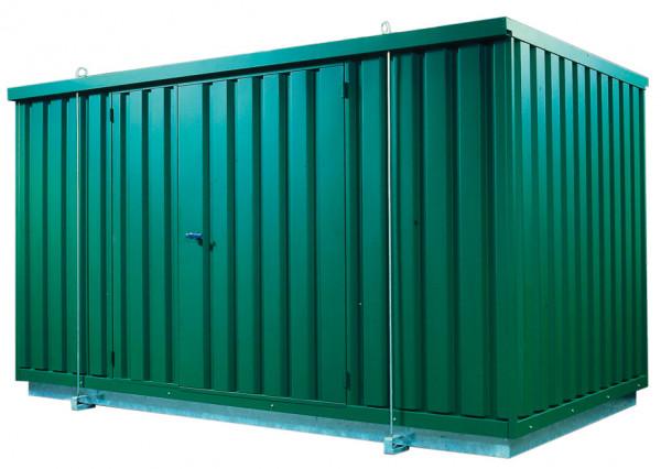 Beispiel Sicherheitsraumcontainer verzinkt und lackiert – mit natürlicher Belüftung
