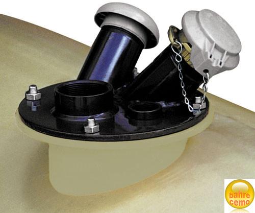 Beispiel Domdeckel montiert auf Tank