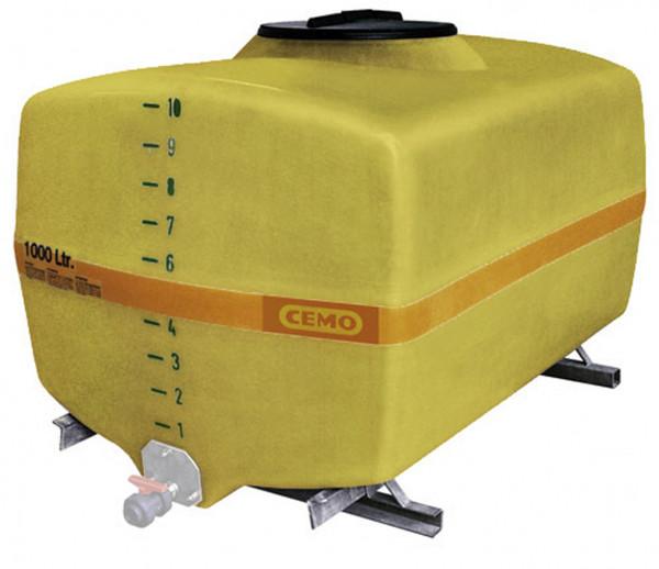 Beispiel GFK-Fass kofferförmig 1000 Liter – Auslaufhahn nicht im Lieferumgang enthalten
