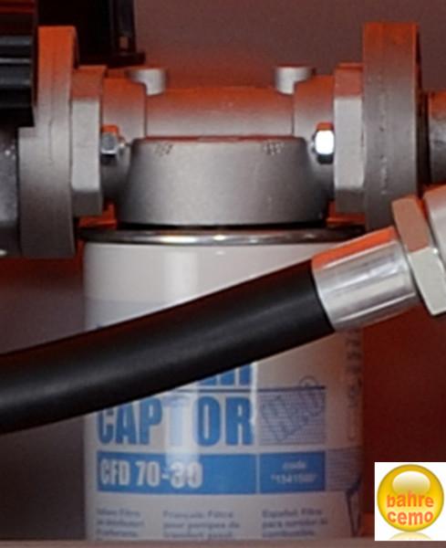 Filter mit Wasserabscheider montiert an CUBE-Dieseltankanlage
