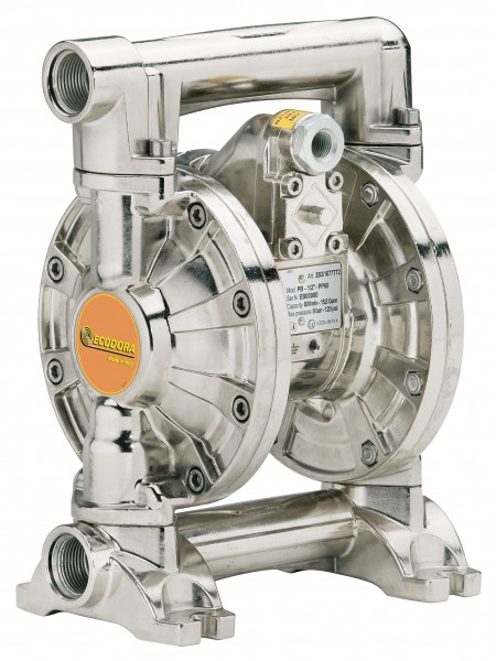 Druckluft-Membranpumpe mit Aluminiumgehäuse - selbstansaugend
