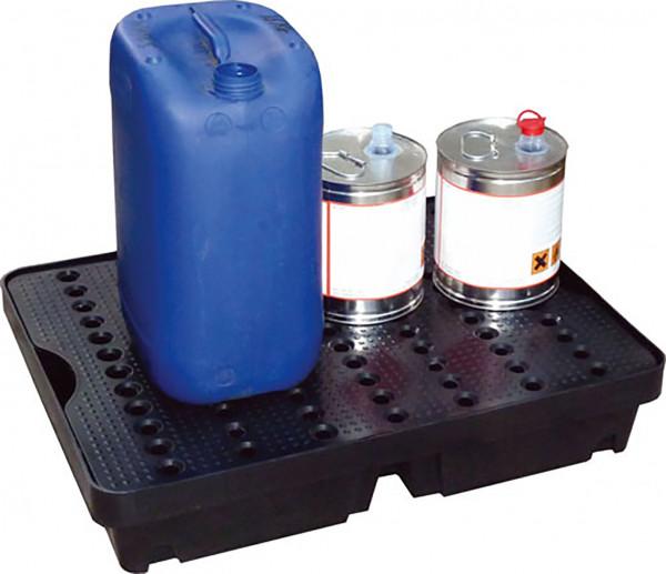 Beispiel PE-Auffangwanne 40 Liter mit PE-Rost