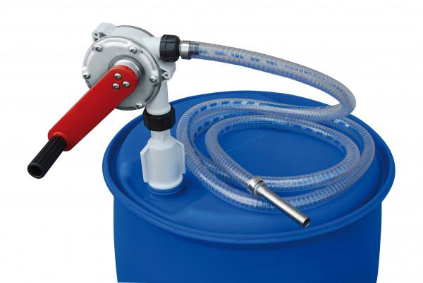 Kurbelpumpe für Chemikalien zur Montage auf Fässer
