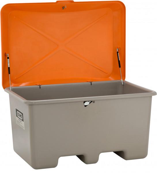 Allzweckbox aus GFK mit Deckel und integrierten Staplertaschen – 200 und 400 Liter