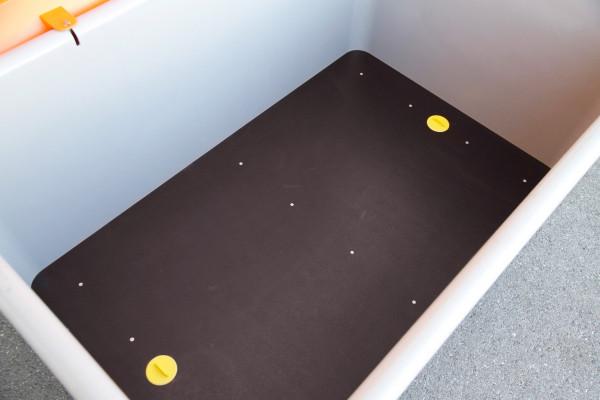 Einlegeplatte 400 für unterfahrbare Behälter