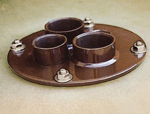Domdeckel Stahl mit 4 Gewindemuffen