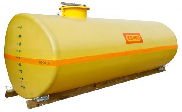 Beispiel GFK-Fass 5000 Liter mit Holzkufen