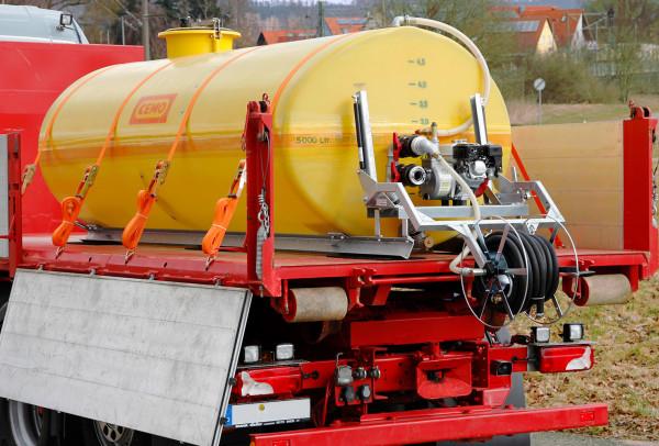 Beispiel Mobiles Bewässerungssystem BWS 500 mit Schlauchhaspel klappbar