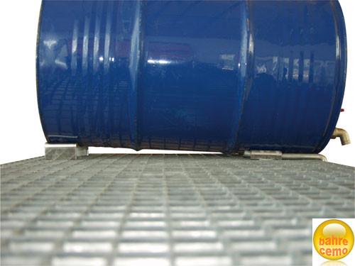 Fassauflagen für optimales Leerlaufen der Fässer