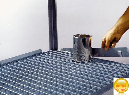 Beispiel Randleiste für Regale mit Stahlgitterrost