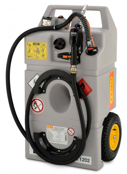 Dieseltrolley 100 Liter Inhalt mit Elektropumpe CENTRI SP30 und Akku