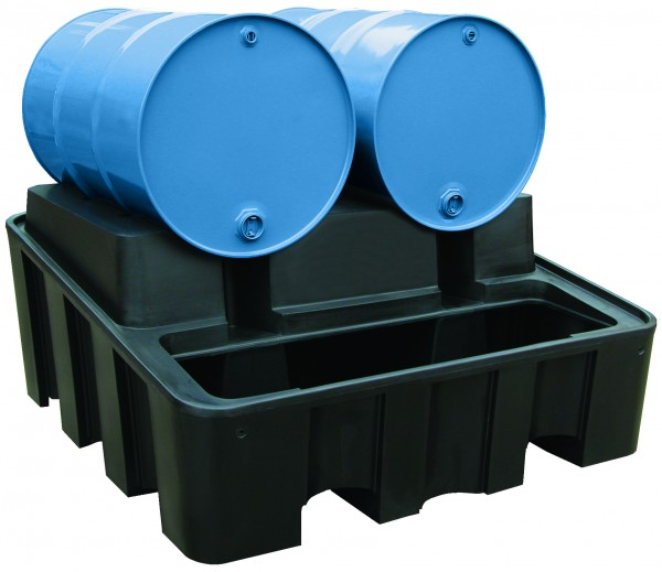 Beispiel PE-Abfüllstation 450 Liter Auffangvolumen