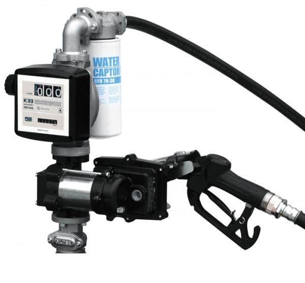 Beispiel Cematic Elektropumpe mit Zähler und Filter für Kraftstoffe