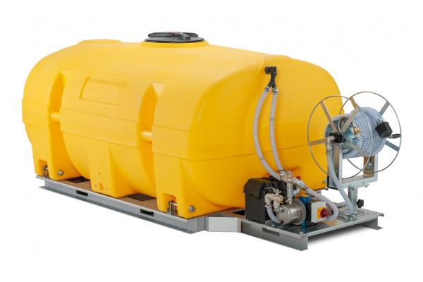 Mobiles Bewässerungssystem BWS 130-PE mit 24-Volt-Elektropumpe und MIT Schwallwänden
