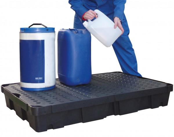 Beispiel PE-Auffangwanne 100 Liter mit PE-Rost