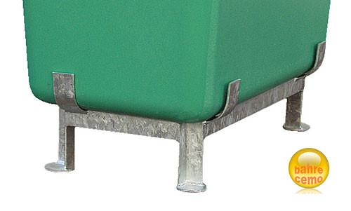 Beispiel Stahlfußgestell für Streugut- und Rechteckbehälter
