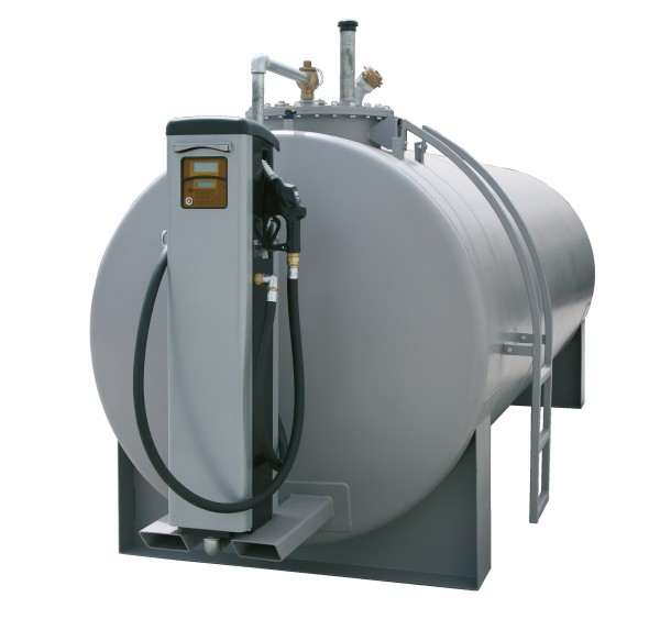 Beispiel Stahltank mit Konsole für Dieselzapfsäule (Zapfsäule nicht im Lieferumfang)