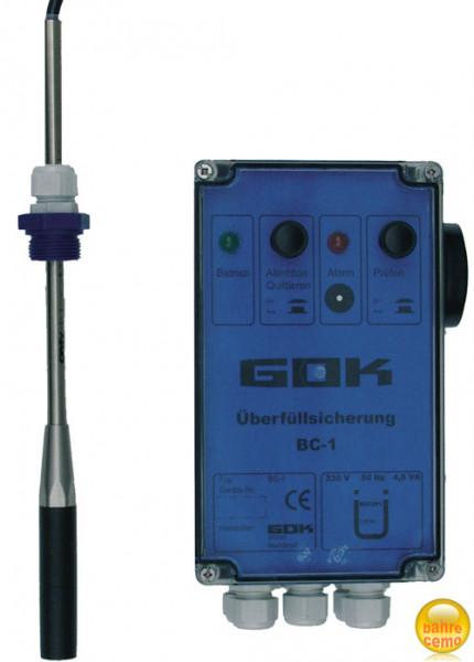 Überfüllsicherung elektr., Schutzklasse IP 65